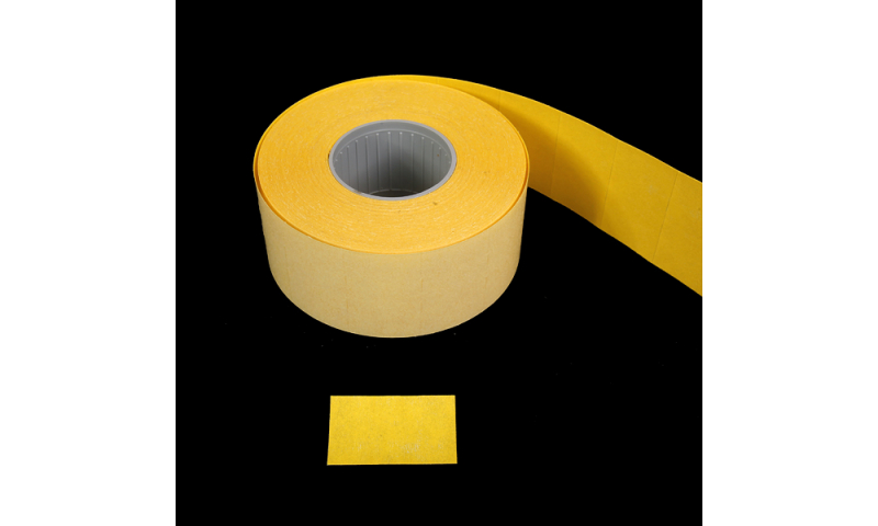 LYNX CT7 Double line Pricing labels, Yellow Permanent, Roll of 1000