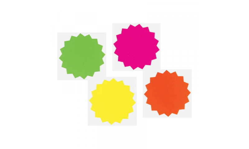 County Stationery Fluorescent Shaped - Stars 18pk 128mm (New Lower price for 2021)