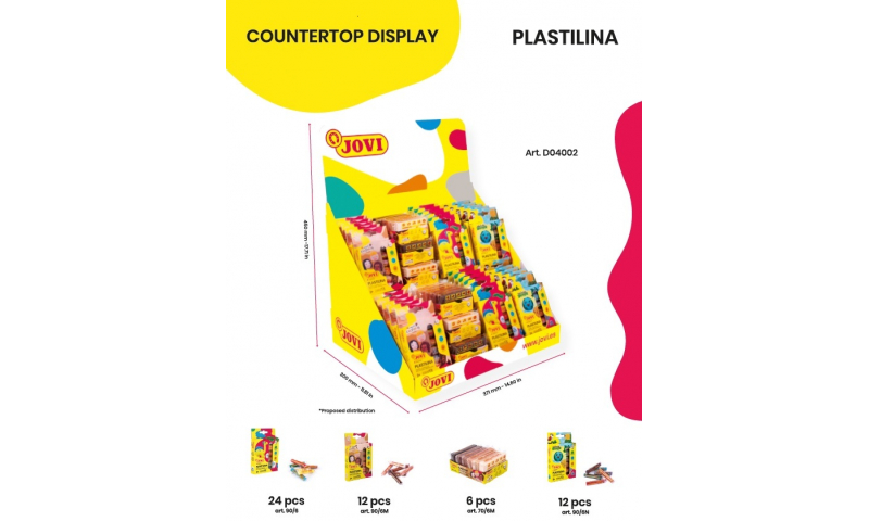 JOVI Plastilina Countertop Multicultural Display Filled