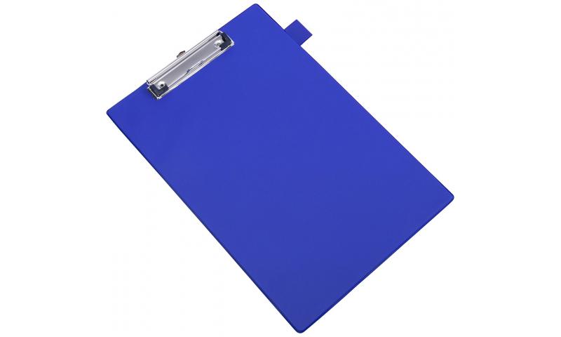 Rapesco Foldover PVC Clipboard, Pocket inside front flap, Pen holder - Blue. (New Lower Price for 2021)