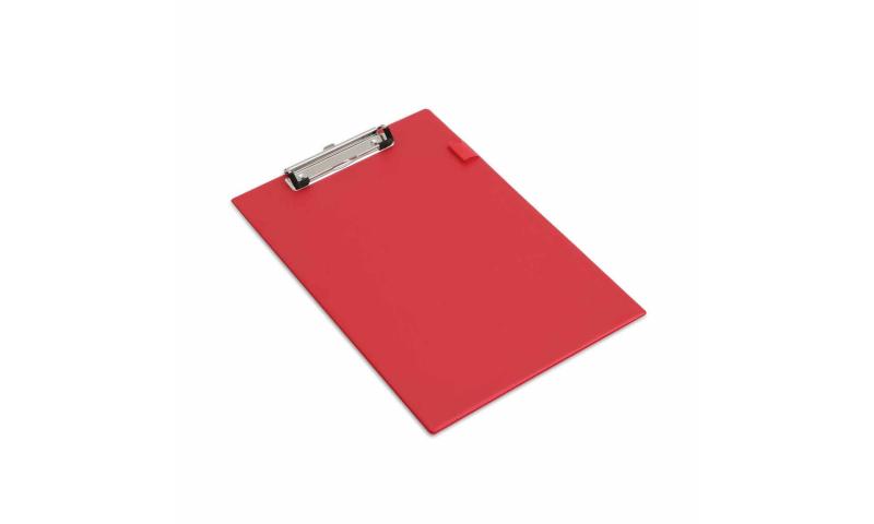 Rapesco Foldover PVC Clipboard, Pocket inside front flap, Pen holder - Red. (New Lower Price for 2021)