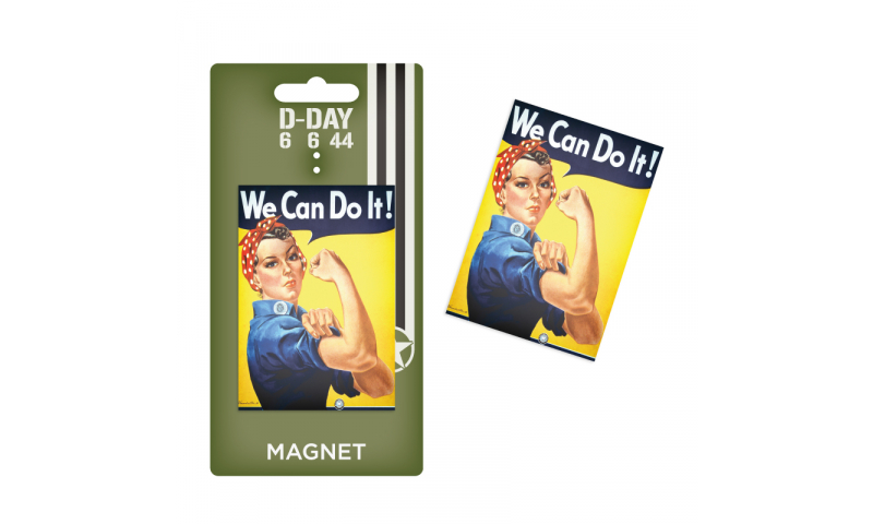 D-Day We Can Do It Tin Magnet
