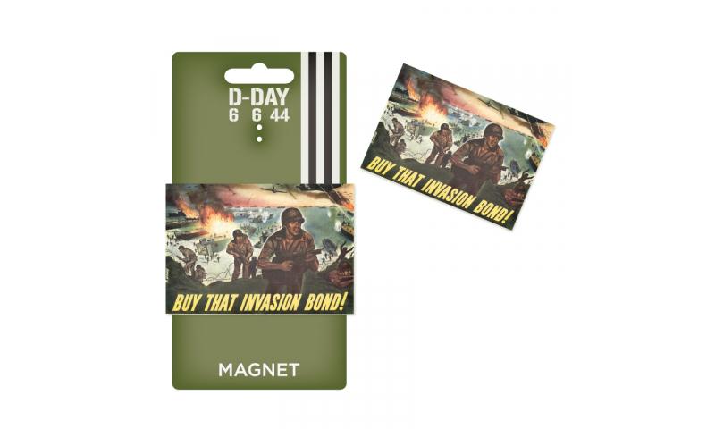 D-Day Buy that Invasion Bond Tin Magnet