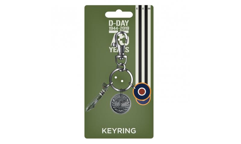 D-Day 75th Anniversary Charm Metal Keyring