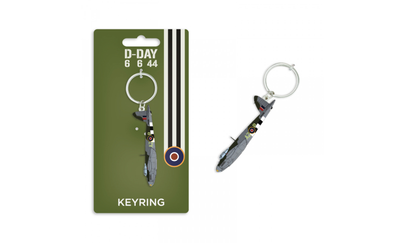 D-Day Mosquito Metal Keyring