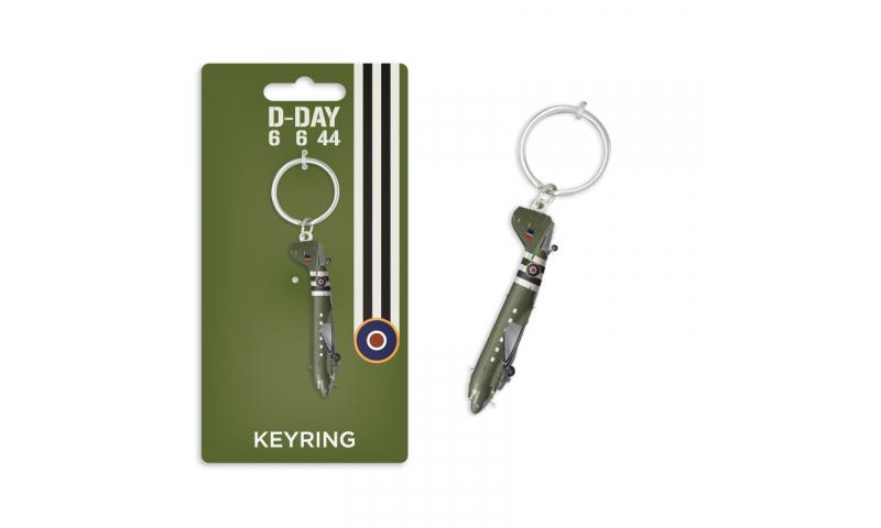D-Day Dakota Metal Keyring