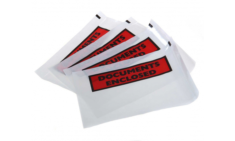 Adhesive Documents Enclosed Wallet - A4 Printed, Pack 500