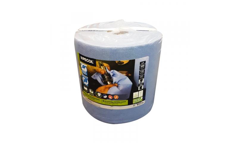 Blue Paper Roll, Jumbo Roll, 230mm Width x 135metre Length
