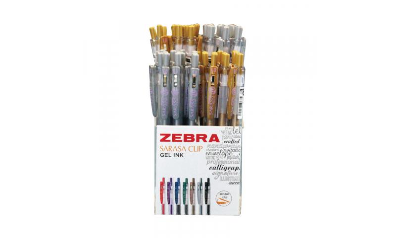 Zebra Sarasa Clip Gel ink Ballpen, Gold & Silver