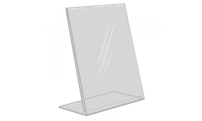 Deflecto Acrylic DL, 1/3A4, L Shape Tilt Back Poster Holder  (New Lower Price for 2021)