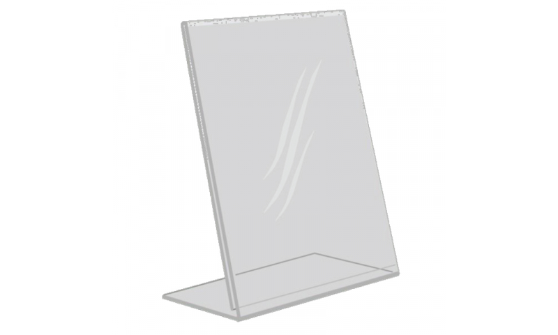Deflecto Acrylic A4 L Shape Tilt Back Poster Holder  (New Lower Price for 2021)