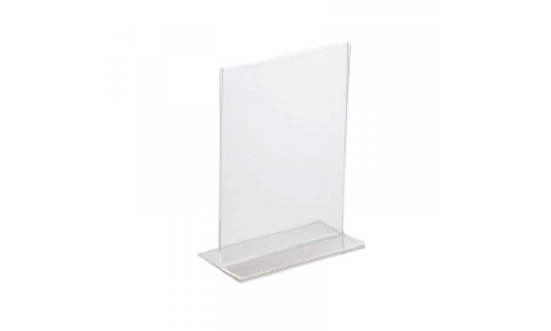 Deflecto Acrylic A5 T-Shape Menu / Poster Holder  (New Lower Price for 2021)