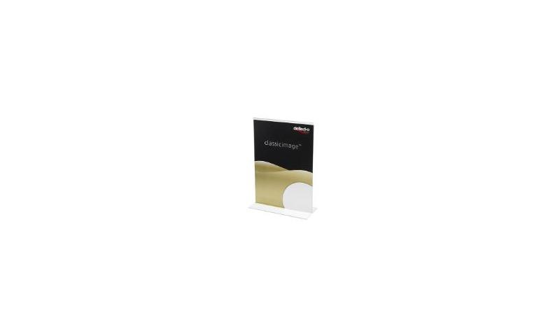 Deflecto Acrylic A6 T-Shape Menu / Poster Holder