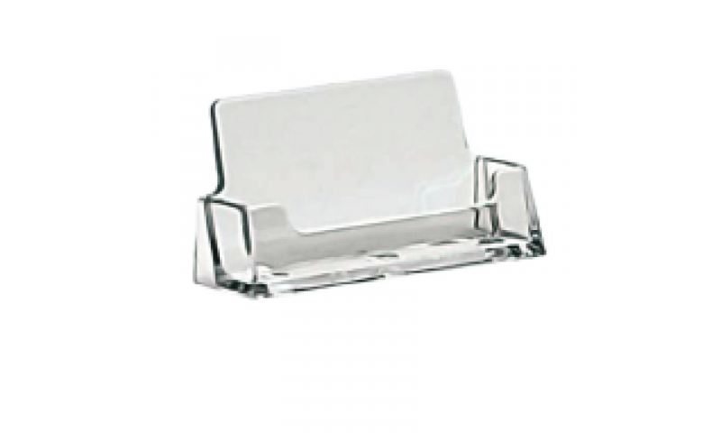 Deflecto Acrylic Desktop Landscape Business Card Holder  (New Lower Price for 2021)