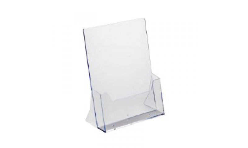 Deflecto Acrylic A4 Freestanding Brochure Holder  (New Lower Price for 2021)