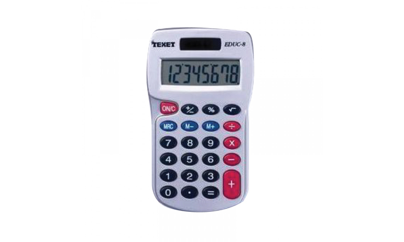 Texet 8 Digit Pocket Calculator with Hard Plastic Keys (New Lower Price for 2021)