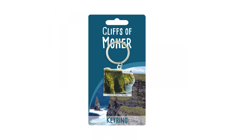 Cliffs Of Moher Shaped Metal Keyring