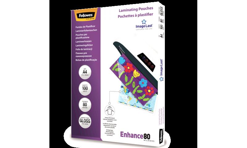 Fellowes ImageLast A4 80mic (160mic) Lamination Pouches - box 100