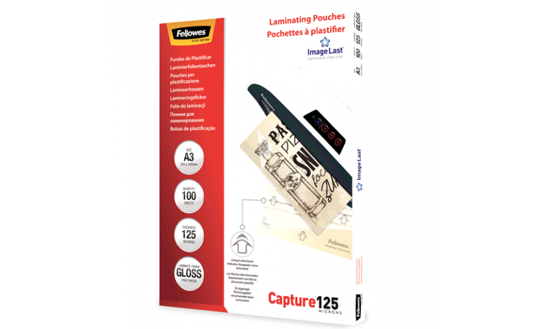 Fellowes ImageLast A3 125mic (250mic) Lamination Pouches - box 100
