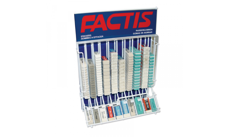 Factis Large Metal Counter Display for Erasers, filled with Stock