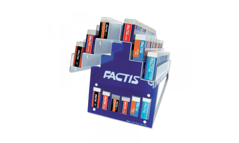 Factis Counter display for Office erasers  - 6 types filled with stock