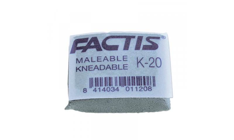 Factis K20 Kneadable Artists Eraser (New Lower Price for 2021)