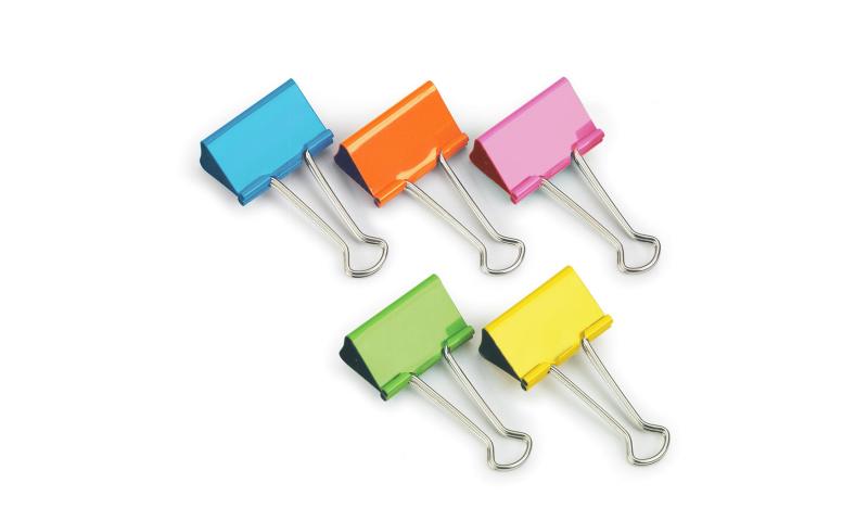 Rapesco Metal Foldback Clips 32mm, 10pk, Asstd Colours, Hangpacked  (New Lower Price for 2021)
