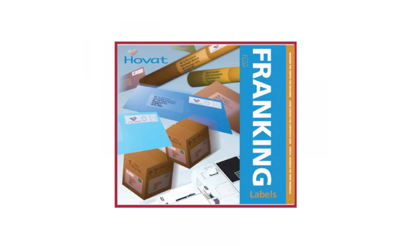 Hovat Franking Machine labels - 1 up 153mm x 45mm