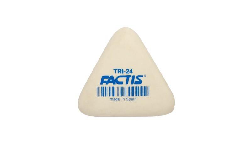 Factis TRI24 Large Triangular Soft Pencil Eraser -20% larger than Milan 428 (New Lower Price for 2021)