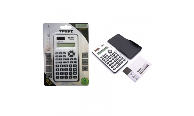 Texet 56 Function Scientific Calculator, 10+2 Display & Hard Case Protection (New Lower Price for 2021)