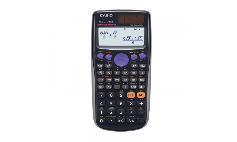Casio Scientific Calculator, Dual Power, Black, (New Lower Price for 2021)