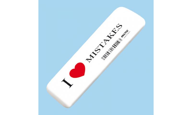 "Factis Giant Eraser ""I Love Mistakes"" (New Lower Price for 2021)"