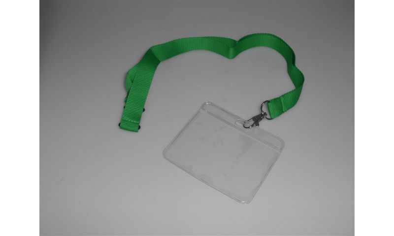 Woven Lanyard, 20mm Wide Polyester, Neck Break included, Metal Swivel Hook with additional 60x90mm Clear PVC Card Holder