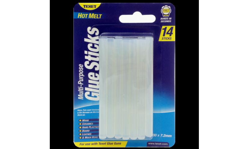 Texet Hot Melt Glue Sticks for HH-138 Gun, 100x7.2mm (New Lower Price for 2021)