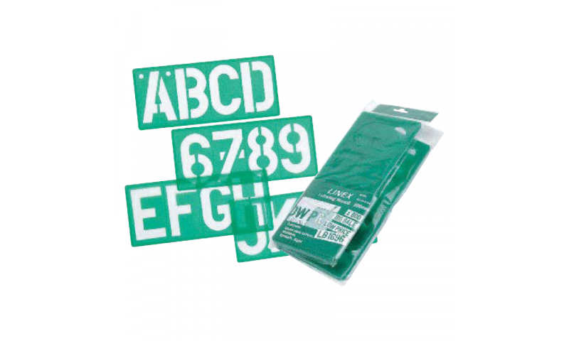 Linex 100mm/4 inch Signwriting Lettering Stencil, Hangpacked. (New Lower Price for 2021)
