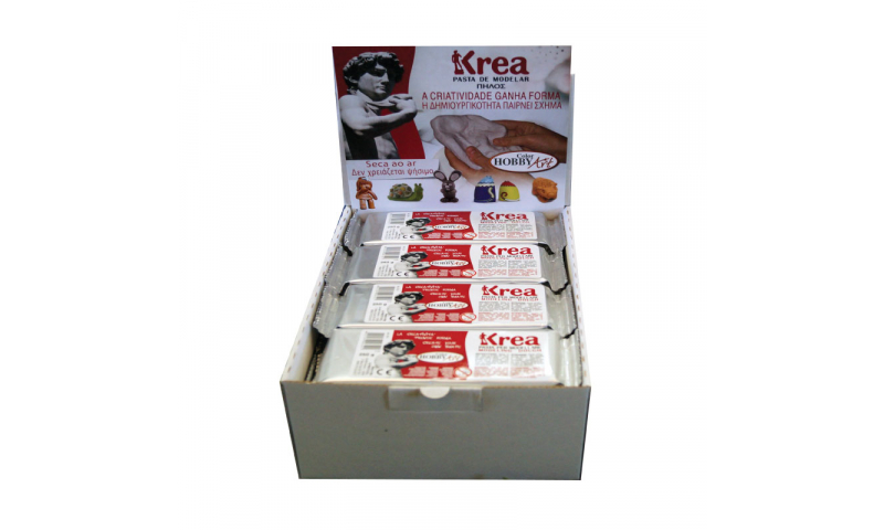 Toycolor Krea air drying clay, White, 250g. Display  (New Lower Price for 2021)