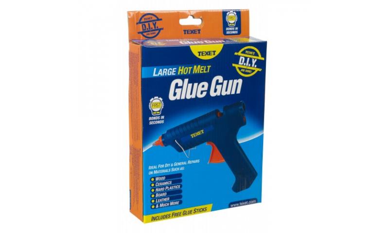 Texet Large Hot Melt Glue Gun 60w, Takes 11.7mm Glue Sticks