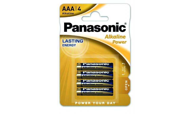 Panasonic Alkaline Batteries LR03/AAA 1.5v 4 Pack (New Lower Price for 2021)