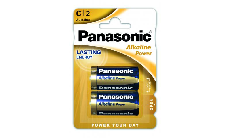 Panasonic Alkaline Batteries LR14/C Size 1.5v 2 Pack (New Lower Price for 2021)