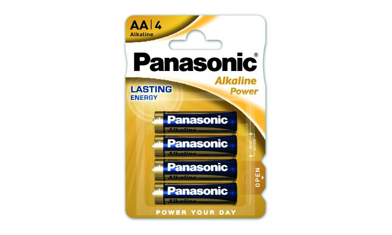 Panasonic Alkaline Batteries LR6/AA 1.5v 4 Pack (New Lower Price for 2021)