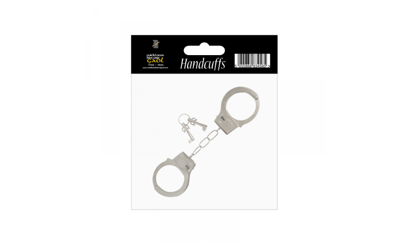 Metal Handcuffs, Hang carded with Bespoke design to Carding