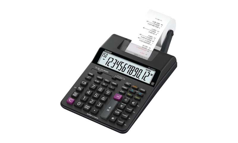 Casio Printer Calculator - Compact Desk Size, 57mm Roll, battery, Mains optional (New Lower Price for 2021)