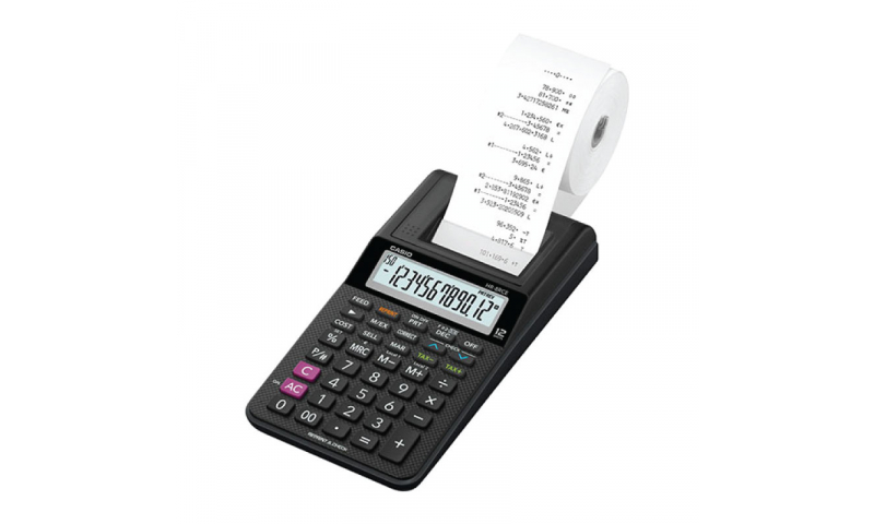 Casio Printer Calculator - Palm Hold Portable Size, 57mm Roll, battery, Mains optional (New Lower Price for 2021)
