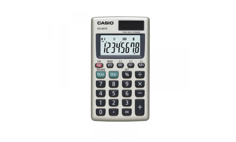 Casio 8 Digit Pocket Calculator Tax & 3 Currency Exchanges (New Lower Price for 2021)