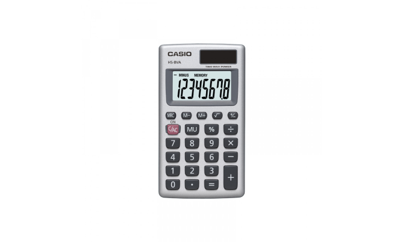 Casio 8 Digit Dual Power Pocket Wallet Calculator (New Lower Price for 2021)