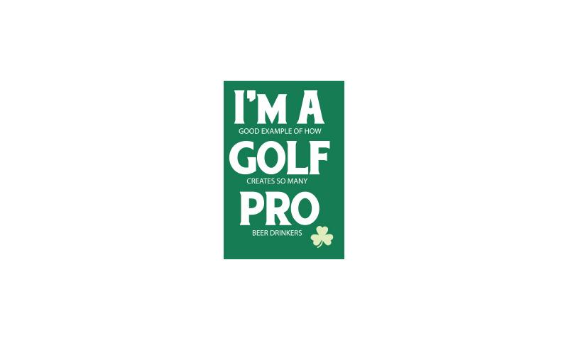 Tin Magnet - Golf Pro