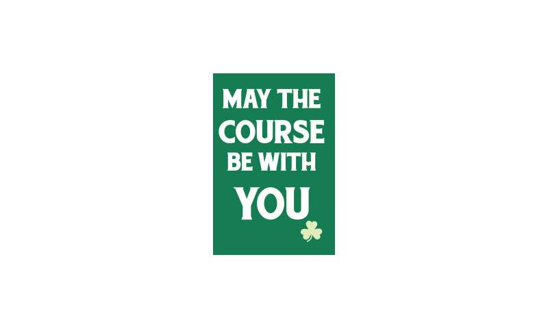 Tin Magnet - May the Course be with you