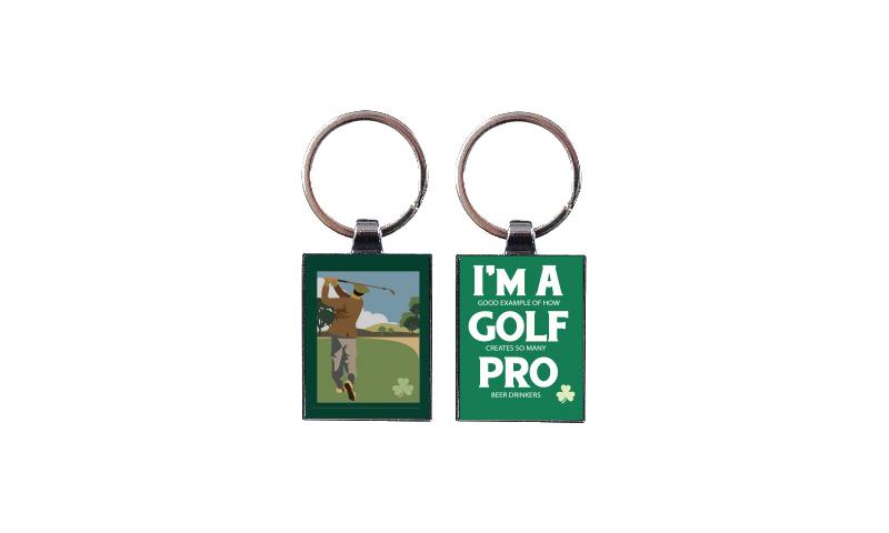 Chromium Keyring - Golf Pro