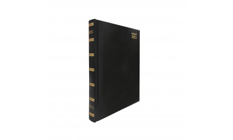 Tara Irish A5 Deluxe Daily Desk Diary 2022, Hardcover, Cream Paper, 3 Asstd Colours