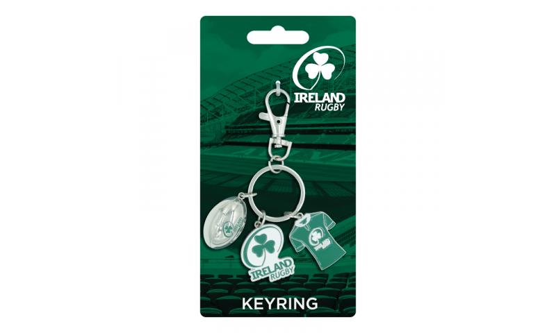 Irish Rugby Charm  Keyring